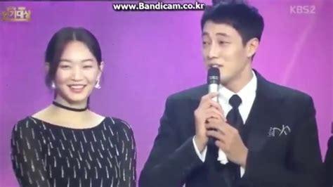 so ji sub shin min ah interview eng sub so jisub and shin minah kbs best couple award