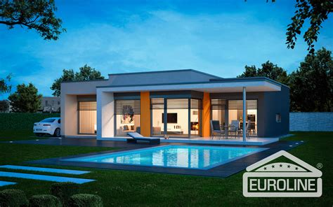 Garage Design Plans by Vila 1351 Family Houses Euroline 1