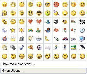 How to Use MSN Emoticons