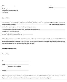 Guarantee Letter For Delivery Guarantee Letter