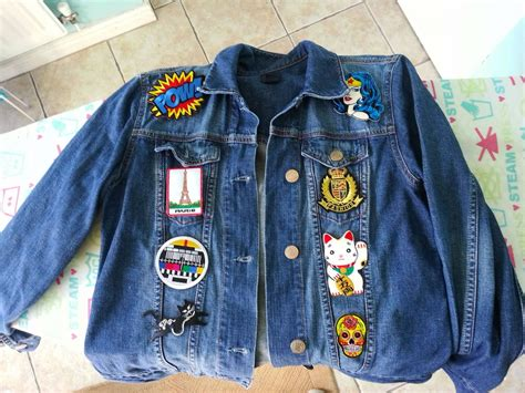 Patched Denim Jacket denim jackets with patches priletai