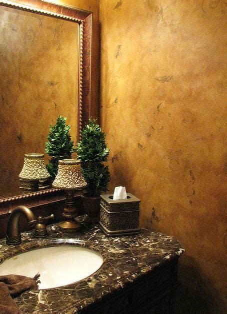 chosing powder room finishes love this powder room with the faux wall finish and