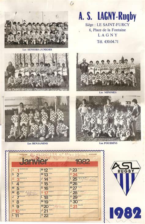 Calendrier De 1982 Le Calendrier De L Asl 1982 As Lagny Rugby