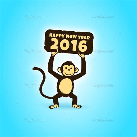 new year 2016 monkey clipart happy new year 2016 vector clipart
