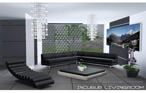 Sims 3 Living Room Sets My Sims 3 Incubus Living Room Set By Jomsims