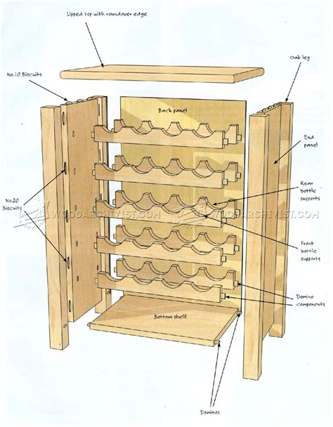 wine rack woodworking plans wine rack table plans woodarchivist