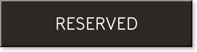 This Room Is Reserved Sign by 2 In X 8 In Engraved Room Sign Sku Se 1387