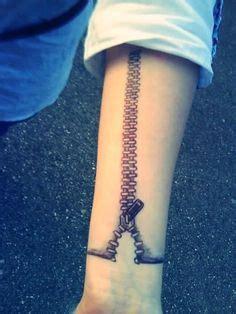 zip tattoo on wrist 3d barcode tattoo on armband cool tattoos pinterest