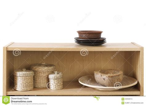 shelf with decorative elements stock photo image 59332614
