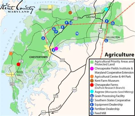 maryland agriculture map economic development maps
