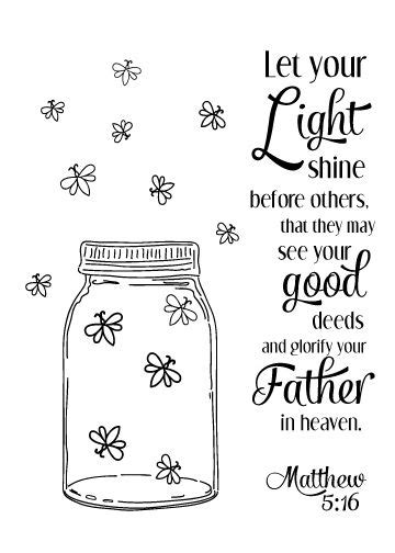 Coloring Page Matthew 5 by Matthew 5 16 Also Free Printable My Strength My