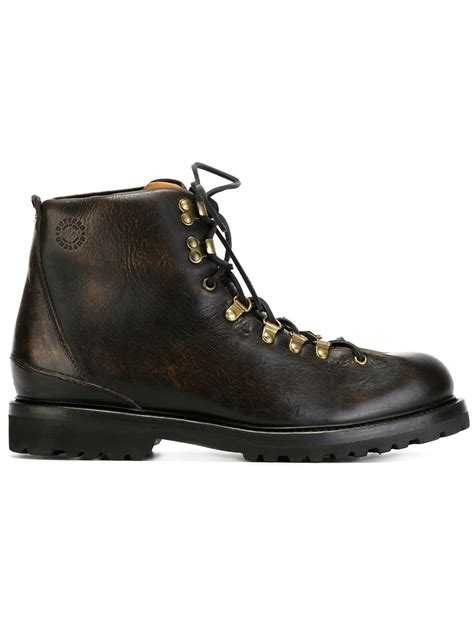 buttero boots buttero classic hiking boots in black for lyst