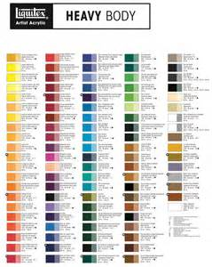 liquitex heavy body color chart color stuff pinterest