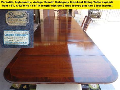 brandt furniture of character drop leaf table vintage brandt drop leaf extension dining table w 5
