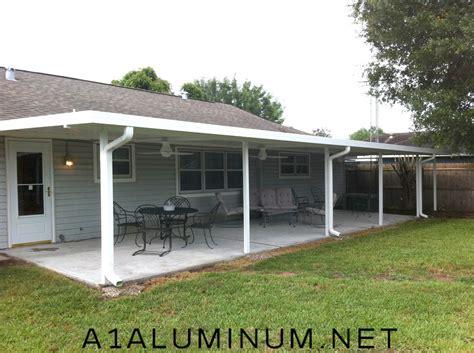 Aluminum Patio Cover with Flat Pan in Pasadena, TX » A 1