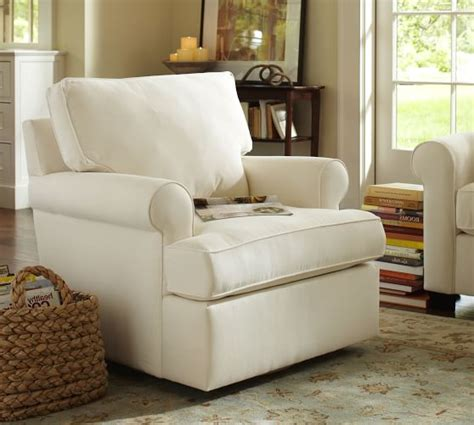 Buchanan Roll Arm Upholstered Swivel Armchair Pottery Barn Pottery Barn Living Room Chairs