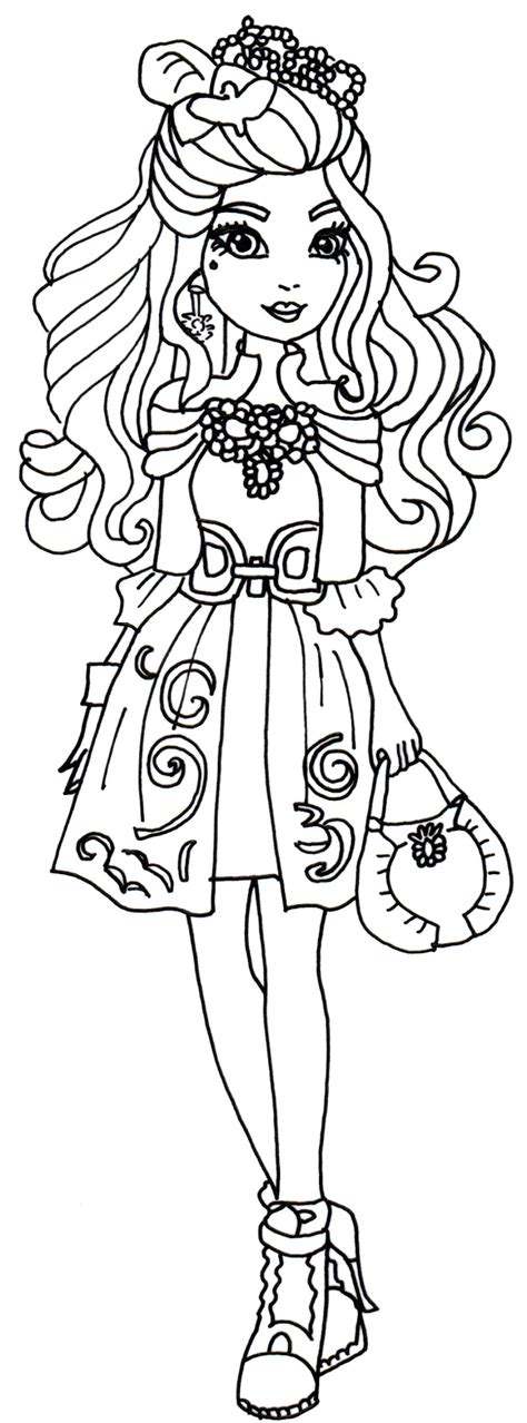 Ever After High Coloring Pages Coloring Home Coloring Sheets For High Printable