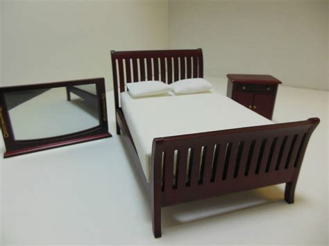 miniature dollhouse bedroom furniture dollhouse miniatures furniture 1 12 12070mh three piece