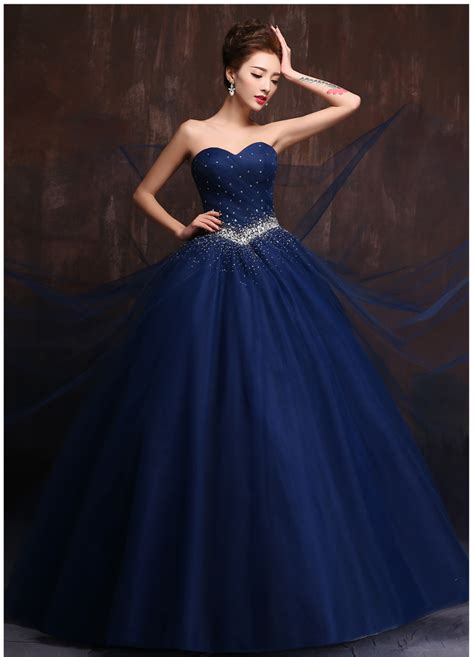 Wedding Dresses Designer Blue by Popular Navy Wedding Dress Wedding Gown Buy Cheap Navy