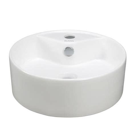 round sink bowl elanti vessel above counter round bowl bathroom sink in