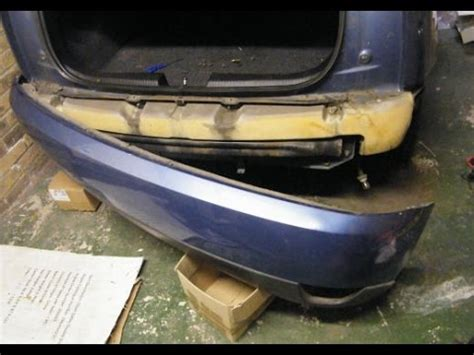 ford focus rear bumper removal youtube