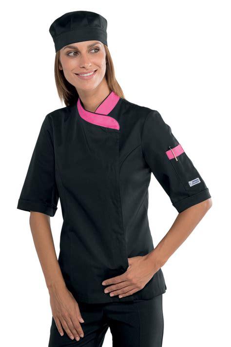 tenue cuisine femme veste de cuisine femme manches courtes et
