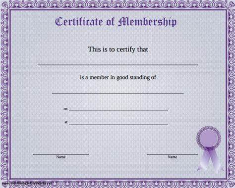 Fan Club Membership Card Template by Membership Certificate Template 23 Free Word Pdf
