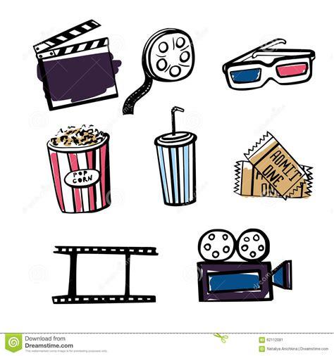 imagenes vintage baños set of doodle cinema objects stock vector image 62112081