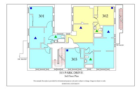 bu housing floor plans 515 park drive 187 housing boston