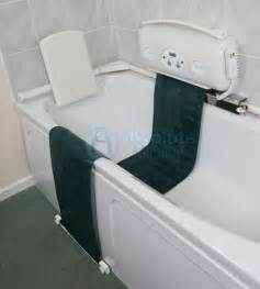 bathtub assistance devices the relaxa bath lift disabled baths disabled showers