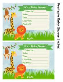 baby shower invitation jungle theme frugal fanatic