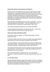actors contract template actors contract