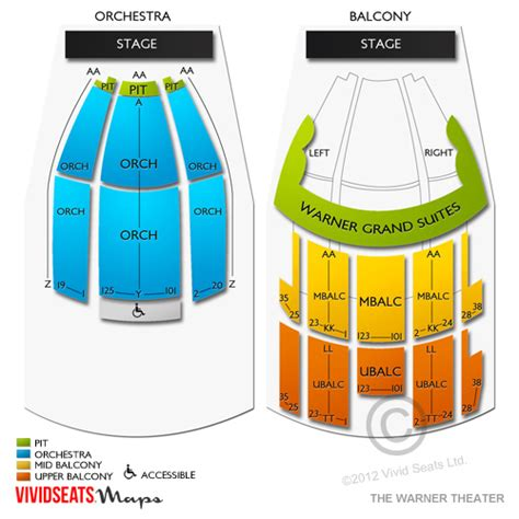 warner theater seating chart warner theatre washington d c tickets warner theatre
