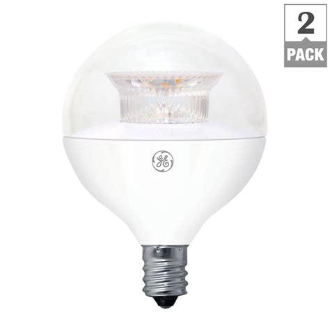 Ge Led Light Bulbs Ge 40w Equivalent Soft White G16 5 Globe Candelabra Base Dimmable Led Light Bulb 2 Pack