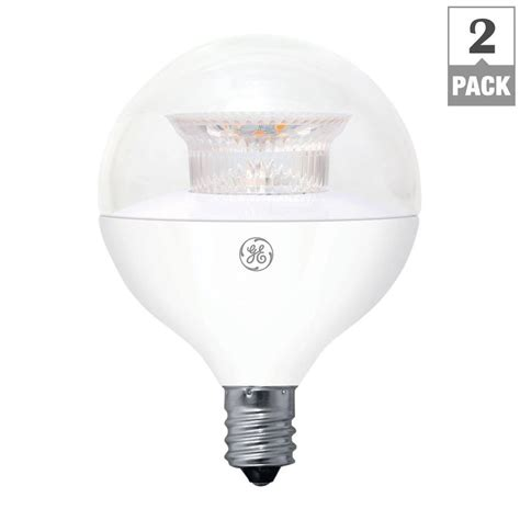 Ge 40w Equivalent Soft White G16 5 Globe Candelabra Base Led Light Bulbs Ge