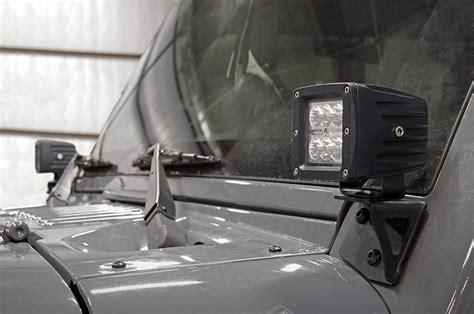 Jeep Jk Windshield Lights Lower Windshield Light Mounts For 07 16 Jeep Jk Wrangler