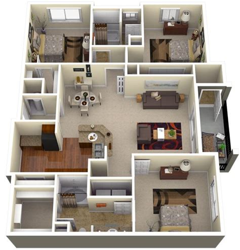home design 3d my dream home my new home s 3d floor plan