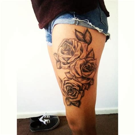 leg tattoo girl pinterest leg tattoos for girls designs roses thigh tattoo designs