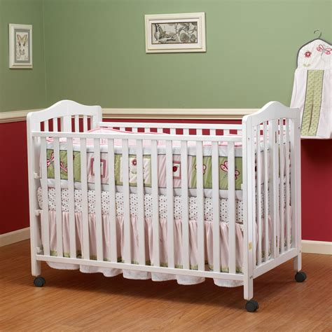 Fold Up Crib by Orbelle Size Folding Crib White Cribs At Hayneedle