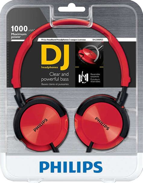 Philips Shl140 Ear Lightweight Shl 140 Headphones philips shl3000rd dj style headphones appliances