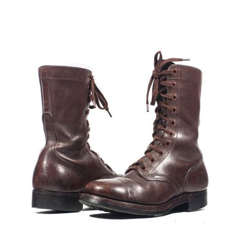 s brown vintage combat boots dated 1951 chippewa shoe