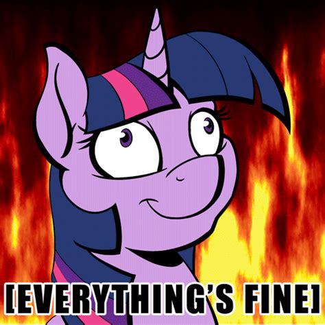 Everything Is Fine Meme - everything is fine my little pony friendship is magic