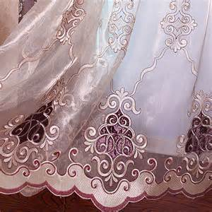 lace bedroom curtains princess pink floral embroidery polyester lace girls