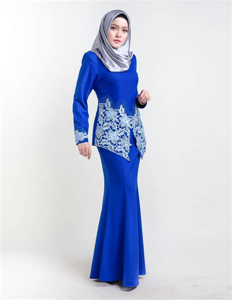 Baju Kurung Moden Warna Biru Turquoise baju kurung moden sereni blue lovelysuri