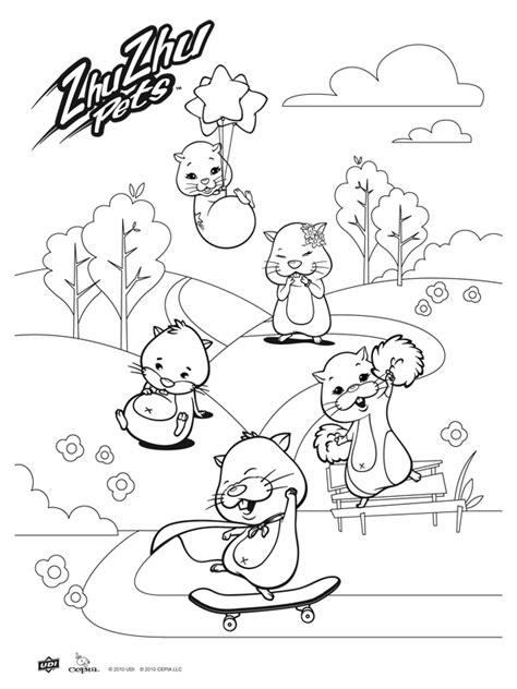 coloring pages zuzu pets kleurplaat zhu zhu pets hamsters kleurplaten nl