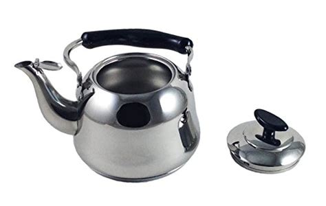 induction electric tea kettle 2 liter alpine cuisine polished mirror finish stainless steel whistling capsule base stovetop