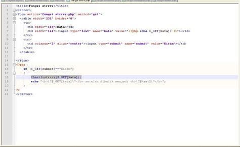php tutorial blogspot tutorial php fungsi strrev untuk membalik urutan suatu