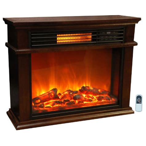 Lifesmart Fireplace by Lifesmart Easy Large Room Infrared Fireplace Includes Deluxe Mantle In Burnished Oak Remote