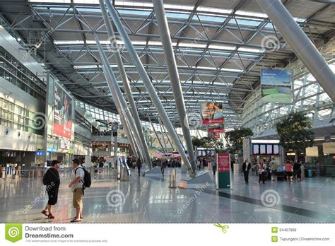dã sseldorf airport dusseldorf airport editorial stock photo image 34457868