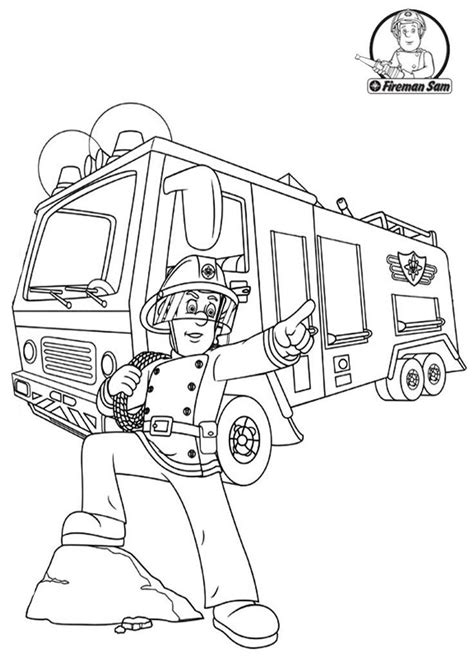 Fireman Sam Coloring Page Coloring Home Fireman Sam Pictures To Print